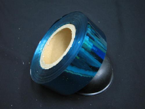 イベント用メッキテープ5cm幅200M巻き粘着なし(青色)