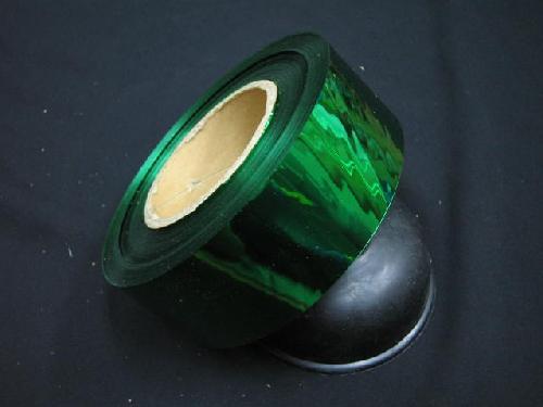 イベント用メッキテープ5cm幅200M巻き粘着なし(緑色)