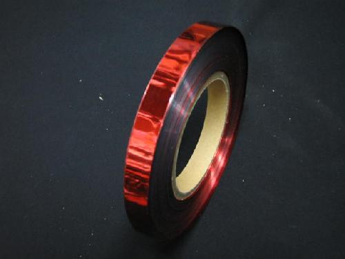 イベント用メッキテープ 1,5cm幅200M巻き粘着なし(赤色)