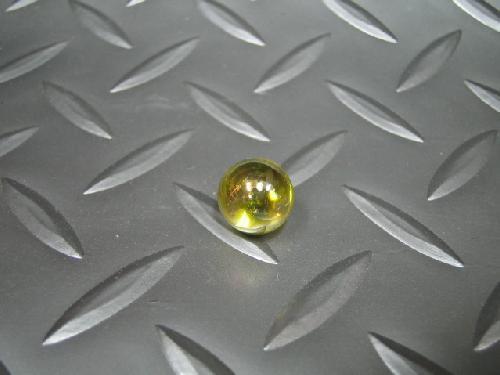 ビー玉・ガラス玉オーロラ(イエロー)12,5mm