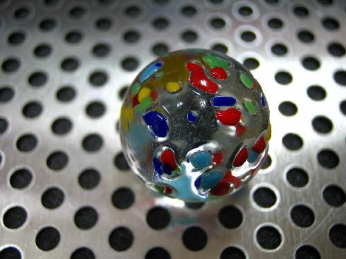 ビー玉・ガラス玉水玉(MIX)17mm
