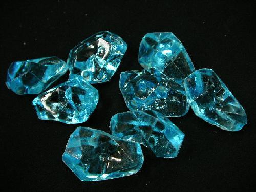 アクリルアイス・ディスプレイアイス・イミテーションアイス・透明石(L)ブルー250g