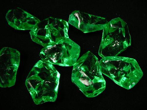 アクリルアイス・ディスプレイアイス・イミテーションアイス・透明石(L)グリーン250g