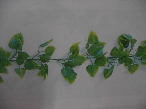 フェイクグリーン造花つたポリ製ローズリーフガーランド(屋外用))[コンビニ後払いの場合有り]