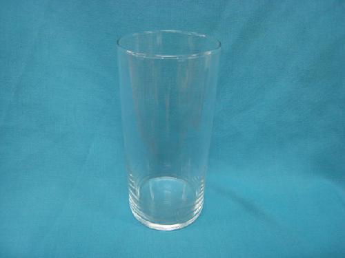 ガラス製フラワーベース(ストレートラウンドS・6個入り・19.5×9Φcm)