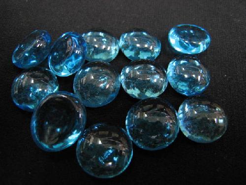 グラスタブレット(ブルー)約15mmΦ・100粒