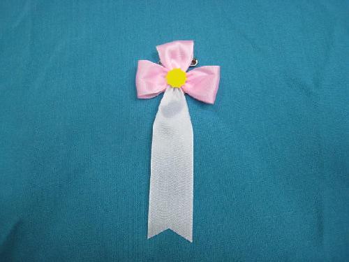 胸につける花・立ヒナ章・記章・徽章(花幅5.5cm)ピンク/選挙・講演会等で胸につける花