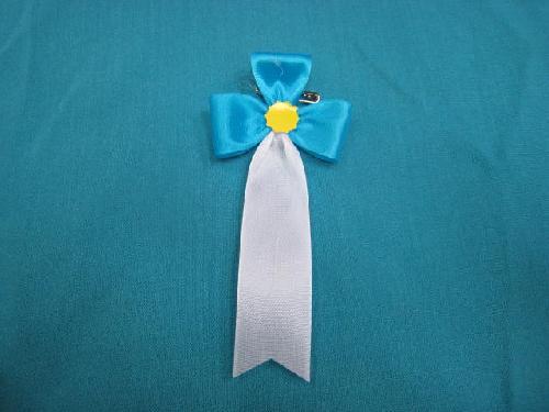 胸につける花・立ヒナ章・記章・徽章(花幅5.5cm)青/選挙・講演会等で胸につける花
