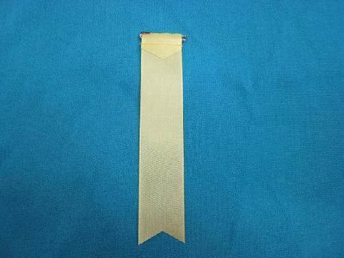 胸につける目印リボンタレ章(小)記章・徽章(全長13cm)黄/選挙・講演会等で胸につけるリボン