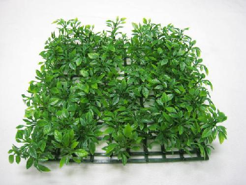 卸価格・プラ製ガーデンマット(ティーリーフ・ツートングリーン・12枚)コンビニ後払い