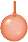 9cmクリアバルーン(オレンジ)
