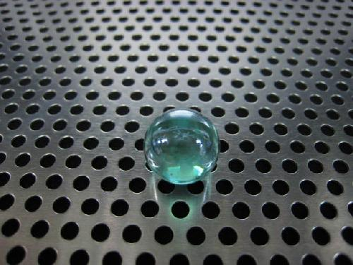 ビー玉・ガラス玉オーロラ(エメラルドグリーン)12,5mm