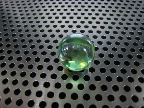 ビー玉・ガラス玉オーロラ(イエローグリーン)17mm