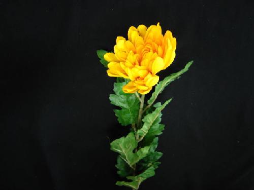 造花菊・マム(黄色)24本販売