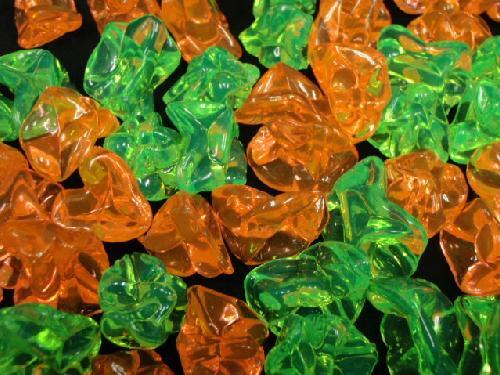 アクリルアイス(蛍光・オレンジ&グリーン)250g入り