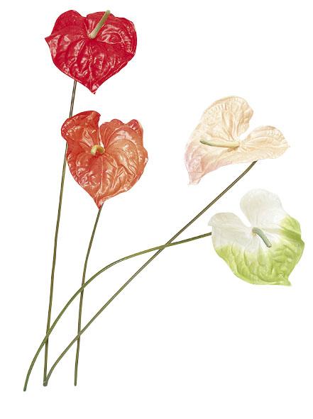 販促用造花(アンスりウム)24本入り・卸価格「コンビニ後払い」