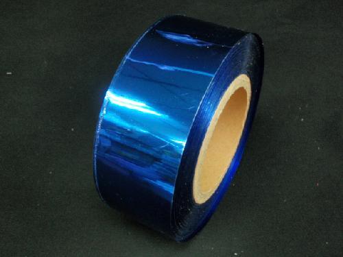 メッキテープ5cm幅200M巻き粘着なし(紺色)