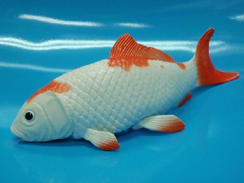魚ディスプレイ鯉(白/赤)21cm・ゴム製