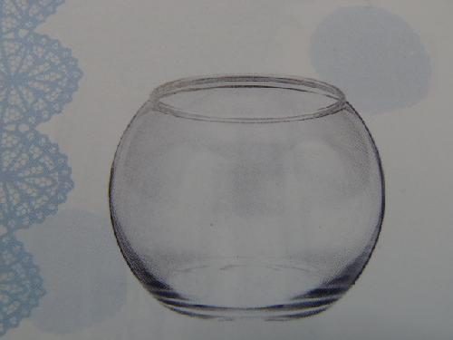 ガラス製フラワーベース(ビューレットSS・6個入り・h6×8×6cm)FR1079