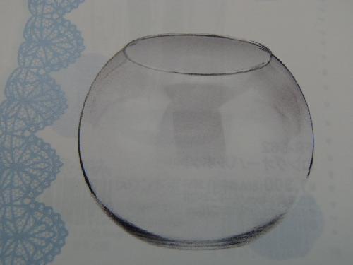 ガラス製フラワーベース(ビューレットL・6個入り・h14×18×11cm)
