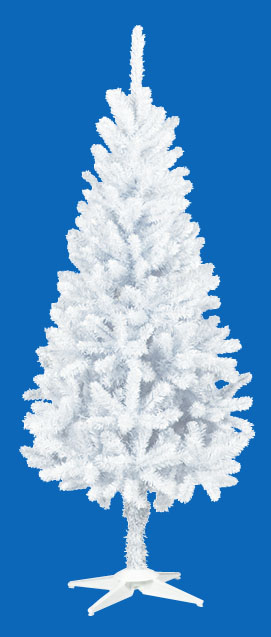 卸販売業務用クリスマスツリー(スリム・ホワイトh150・幅60cm)TXM2038