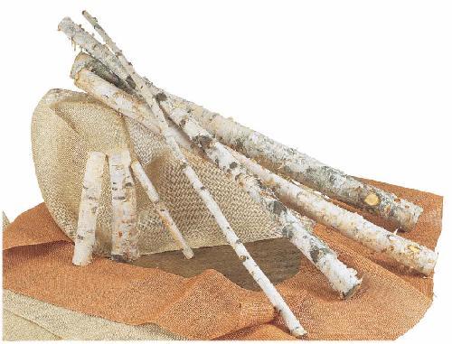 白樺幹全長2M(L・直径約9〜11cm)自然木・ND162
