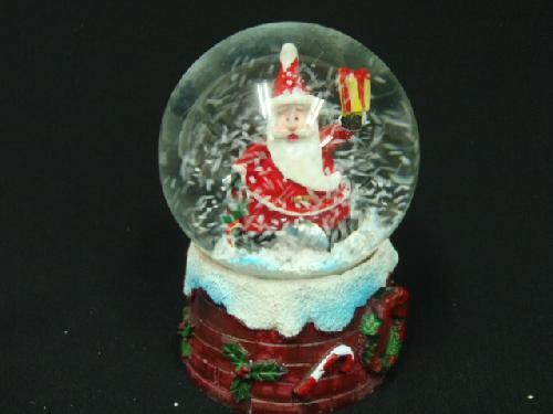 卸販売クリスマス雑貨(スノードーム・プレゼントサンタ・6個入り)