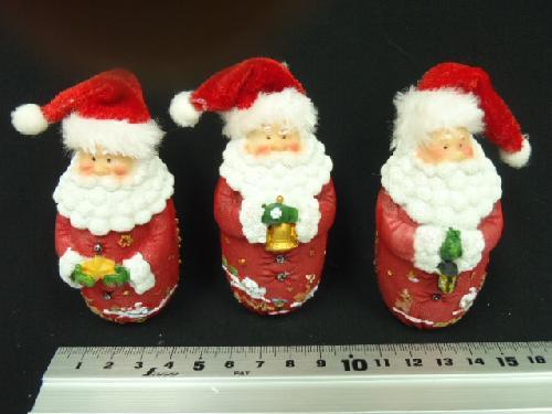 卸販売クリスマス雑貨(デコミニサンタ・3種12個入り)