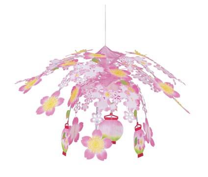 スプリングシャンデリア(桜提灯70cm)DECH1913