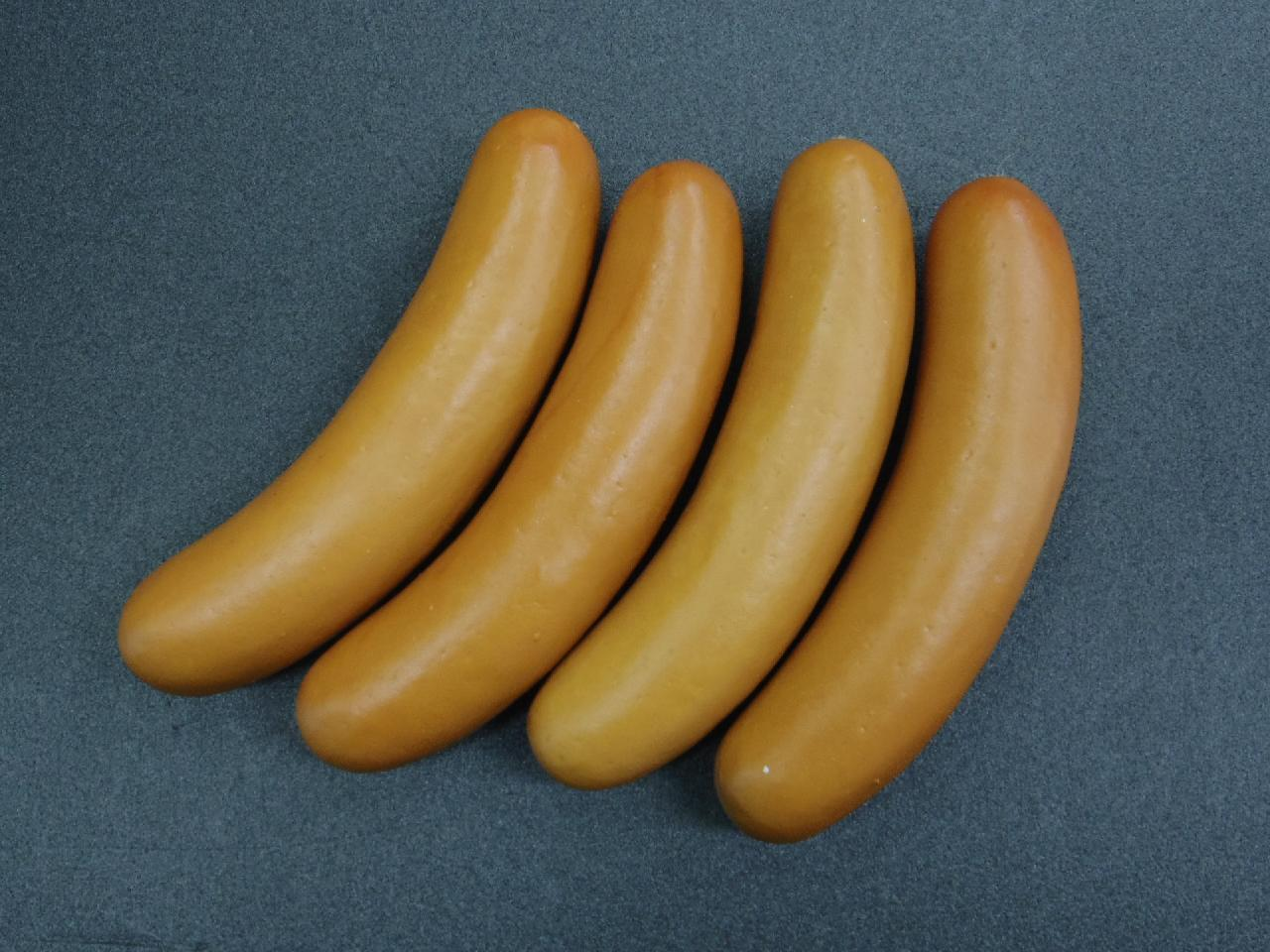 食品ディスプレイ肉(14cmフランクフルト)4本スチロール製