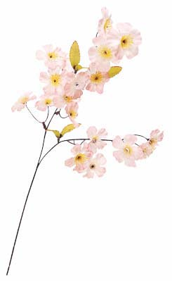 卸販売造花(桜小枝・全長60cm花径5cm・24本)FLS104