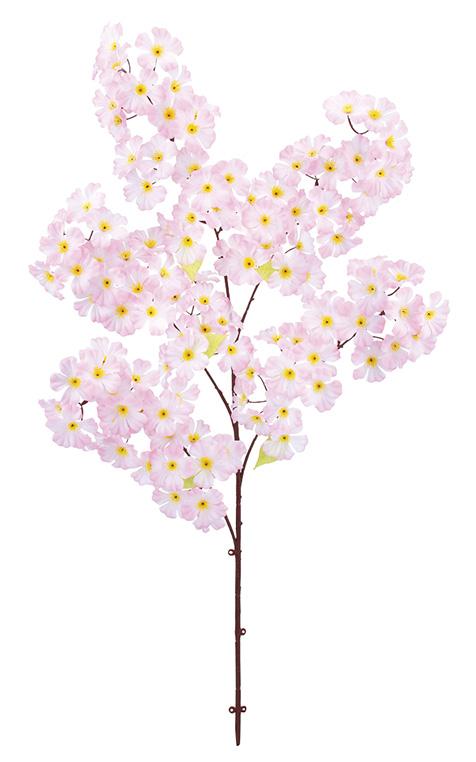 造花桜枝(大枝全長105cm・花径7cm・6本)FLS5278
