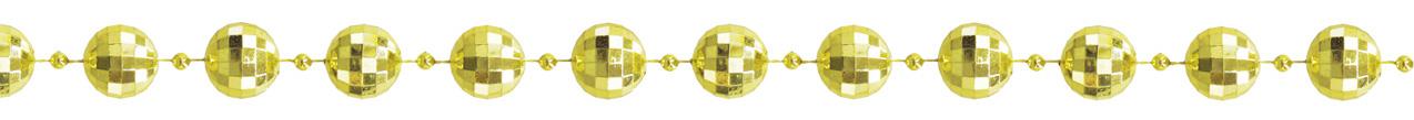 ダイヤカットビーズガーランド(L・ゴールド)全長180cmGXM−3203L