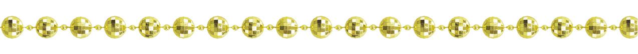 ダイヤカットビーズガーランド(M・ゴールド)全長180cmGXM−3203M