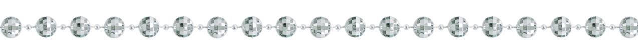 ダイヤカットビーズガーランド(M・シルバー)全長180cmGXM−3203M