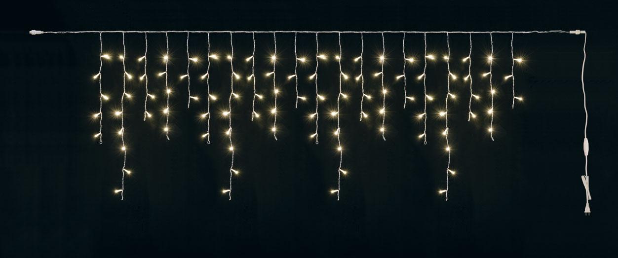 常点灯100球LEDアイシクルライト(クリーム/クリアコード)他商品同送不可LT1085