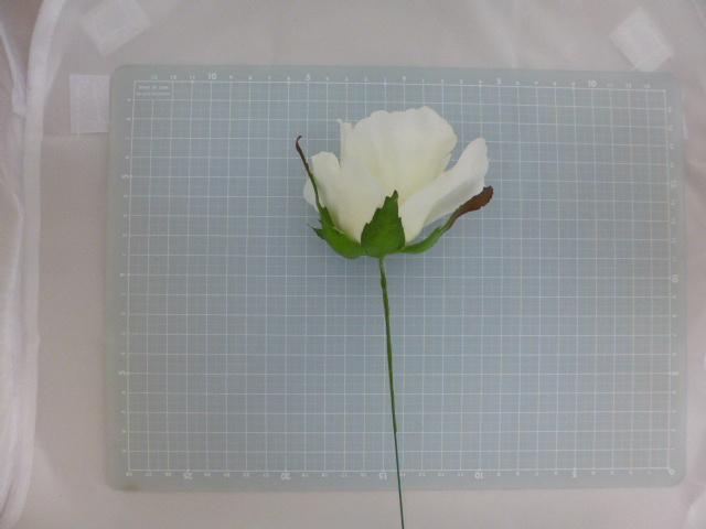 ミシェルローズピック(ホワイト)花径約8・全長約21cmFLP6014