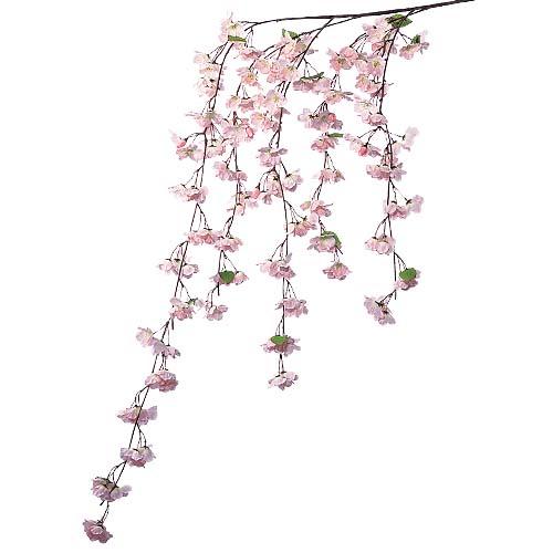 卸販売造花桜(しだれ桜大枝・全長180cm花径5cm・2本入り)FLSP1622他商品同送不可