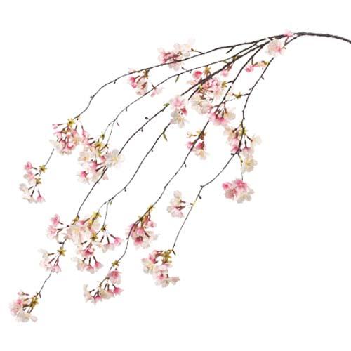 卸販売造花桜(しだれ桜枝・全長160cm花径2〜4cm・2本入り)FLSP1853他商品同送不可