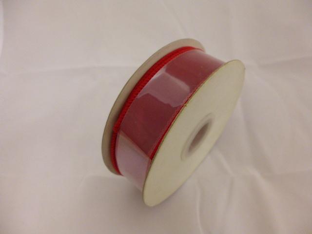 在庫処分特価リボン巻き�(ベルベットレッド縁有2cm×9M)粘着なし