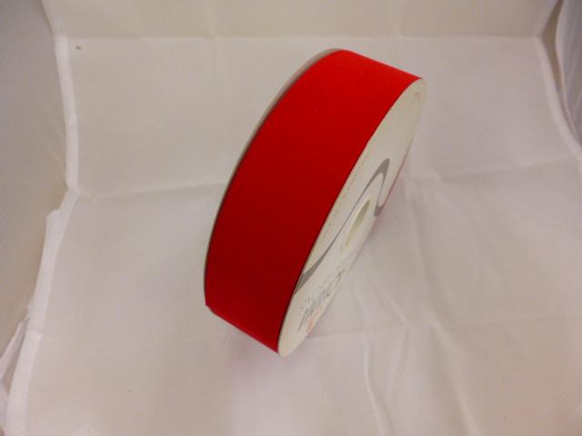 在庫処分特価リボン巻き�(ベルベットレッド3,6cm)粘着なし