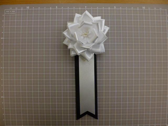 弔用葬儀胸花(3号8cm20個入り)白黒タレ