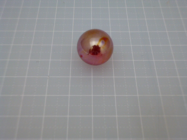 ビー玉・ガラス玉オーロラ17mm(レッド)100粒