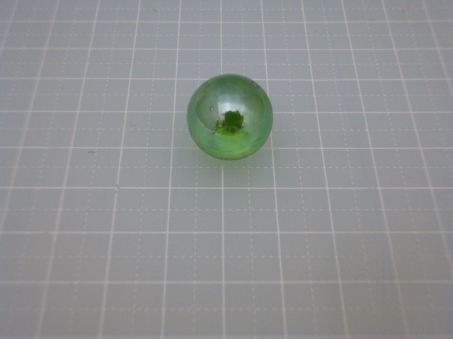 ビー玉・ガラス玉オーロラ17mm(グリーン)100粒