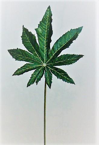 卸販売造花リーフ(ヤツデ葉約20cm72本入り)他商品同送不可1749