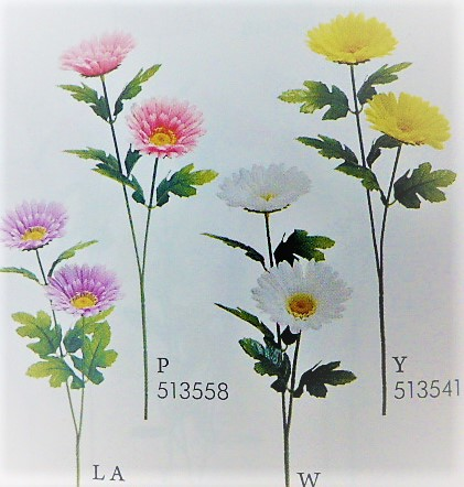 1本¥99造花(ガーベラ×2輪・単色36本入り)2484