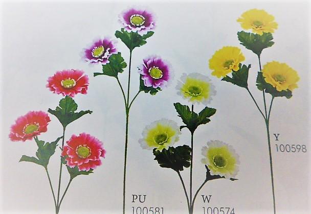 1本¥138造花(ガーベラ×3輪・単色36本入り)137