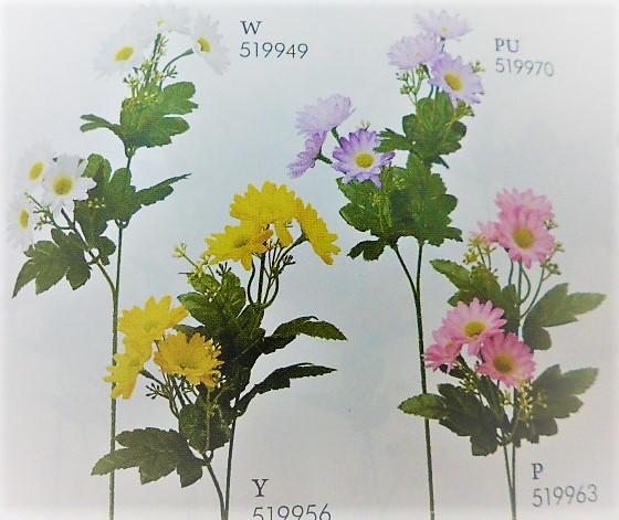 1本¥138造花(カスミ付きデージー×2輪・単色36本入り)2991