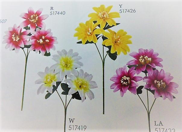 卸販売造花(サテンオープンダリア×3輪・単色36本入り)2802