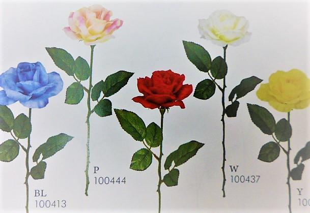 1本¥138造花(サテンローズ・単色36本入り)134